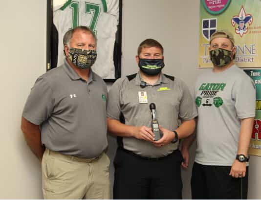 Francis Labat, Co-Athletic Director South Terrebonne High School, Zach Poincon, Certified Athletic Trainer TGMC Community Sports Institute and Nick Cenac, Co-Athletic Director South Terrebonne High School